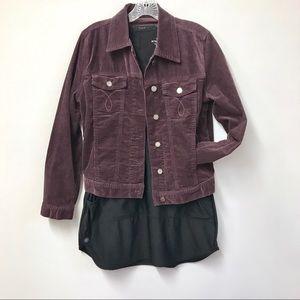 Calvin Klein Jeans. Med. Purple Corduroy Jacket.